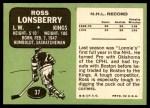 1970 Topps #37  Ross Lonsberry  Back Thumbnail