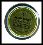 1971 Topps Coins #6  Gerry Moses  Back Thumbnail