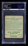 1933 Goudey #62  Pepper Martin  Back Thumbnail