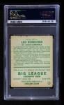 1933 Goudey #147  Leo Durocher  Back Thumbnail