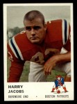 1961 Fleer #186  Harry Jacobs  Front Thumbnail
