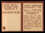 1967 Philadelphia #122  Charlie Bradshaw  Back Thumbnail
