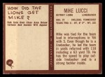 1967 Philadelphia #67  Mike Lucci  Back Thumbnail