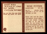 1967 Philadelphia #33  Richie Petitbon  Back Thumbnail
