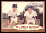 1962 Topps #163 NRM  -  Clete Boyer / Billy Gardner Hot Corner Guardians Front Thumbnail