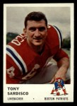 1961 Fleer #185  Tony Sardisco  Front Thumbnail