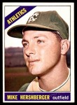 1966 Topps #236  Mike Hershberger  Front Thumbnail