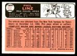 1966 Topps #522  Phil Linz  Back Thumbnail