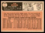 1966 Topps #369  Jim King  Back Thumbnail