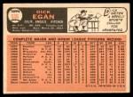 1966 Topps #536  Dick Egan  Back Thumbnail