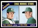 1966 Topps #568   -  Paul Lindblad / Ron Stone Athletics Rookies Front Thumbnail