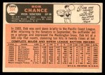 1966 Topps #564  Bob Chance  Back Thumbnail