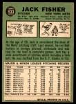 1967 Topps #533  Jack Fisher  Back Thumbnail