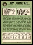 1967 Topps #369  Catfish Hunter  Back Thumbnail