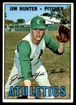 1967 Topps #369  Catfish Hunter  Front Thumbnail
