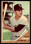 1962 Topps #178 GRN Camilo Carreon  Front Thumbnail