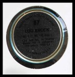 1971 Topps Coins #87  Lou Brock  Back Thumbnail