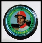 1971 Topps Coins #87  Lou Brock  Front Thumbnail