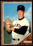 1962 Topps #231  Ernie Bowman  Front Thumbnail