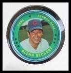 1971 Topps Coins #143  Glenn Beckert  Front Thumbnail