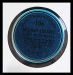 1971 Topps Coins #106  Mickey Lolich  Back Thumbnail