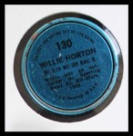 1971 Topps Coins #130  Willie Horton  Back Thumbnail