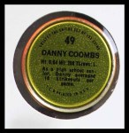 1971 Topps Coins #49  Danny Coombs  Back Thumbnail