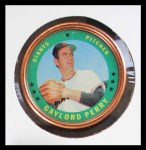 1971 Topps Coins #73  Gaylord Perry  Front Thumbnail