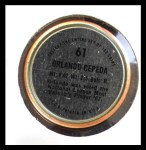 1971 Topps Coins #61  Orlando Cepeda  Back Thumbnail