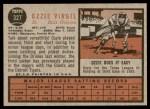 1962 Topps #327  Ozzie Virgil  Back Thumbnail