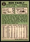 1967 Topps #94 xDOT Ron Fairly  Back Thumbnail