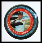 1971 Topps Coins #66  Duke Sims  Front Thumbnail