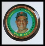 1971 Topps Coins #153  Willie Mays  Front Thumbnail