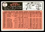 1966 Topps #521  John Wyatt  Back Thumbnail