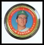 1971 Topps Coins #80  Catfish Hunter  Front Thumbnail