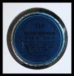 1971 Topps Coins #114  Brooks Robinson  Back Thumbnail