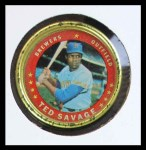 1971 Topps Coins #44  Ted Savage  Front Thumbnail
