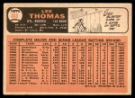 1966 Topps #408  Lee Thomas  Back Thumbnail