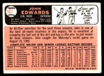 1966 Topps #507  Johnny Edwards  Back Thumbnail