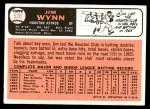 1966 Topps #520  Jim Wynn  Back Thumbnail