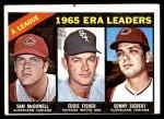 1966 Topps #222   -  Eddie Fisher / Sam McDowell / Sonny Siebert AL ERA Leaders Front Thumbnail