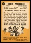 1967 Topps #32  Rex Mirich  Back Thumbnail