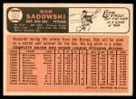 1966 Topps #523  Bob Sadowski  Back Thumbnail