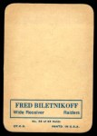 1970 Topps Glossy #32  Fred Biletnikoff  Back Thumbnail