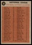 1962 Topps #58   -  Warren Spahn / Joe Jay / Jim O'Toole NL Wins Leaders Back Thumbnail