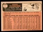 1966 Topps #375  Donn Clendenon  Back Thumbnail