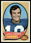 1970 Topps #240  Lance Alworth  Front Thumbnail