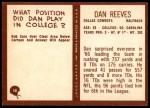 1967 Philadelphia #58  Dan Reeves  Back Thumbnail