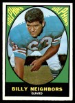 1967 Topps #84  Billy Neighbors  Front Thumbnail