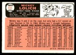 1966 Topps #455  Mickey Lolich  Back Thumbnail